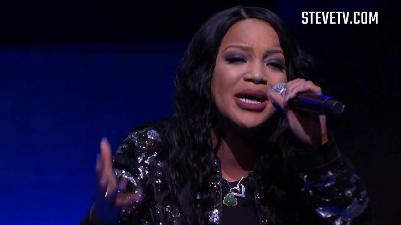rapper dani devastation on the steve Harvey show www.audiomaxxstudios.com